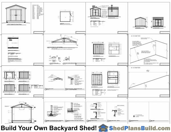 10x12 Lean To Shed Plans Example: