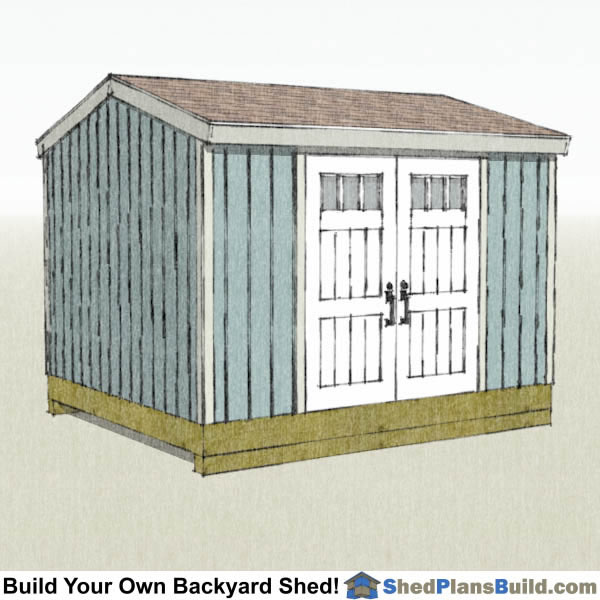 10x12 Backyard Tall Shed Plans Right Rear