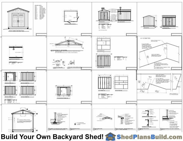10x12 Backyard Tall Shed Plans Example: