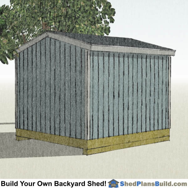 10x12 Backyard Tall Shed Plans Left Rear