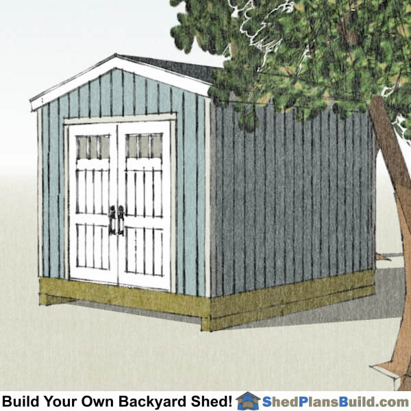 10x12 Backyard Tall Shed Plans Right