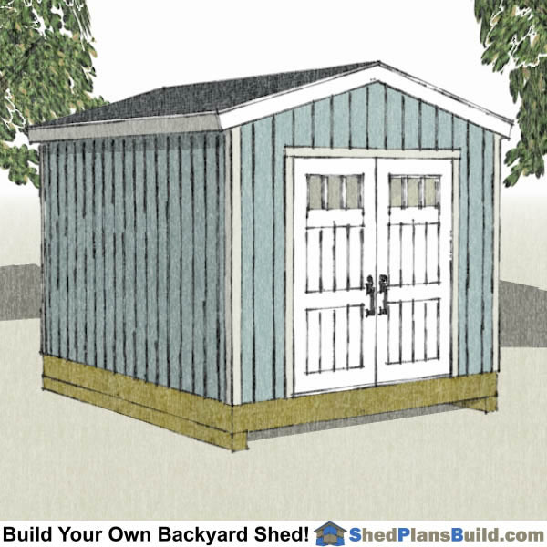 10x12 backyard shed plans store bought door