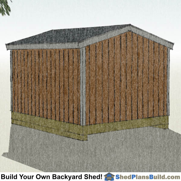 10x12 Backyard Shed Plans Right Rear