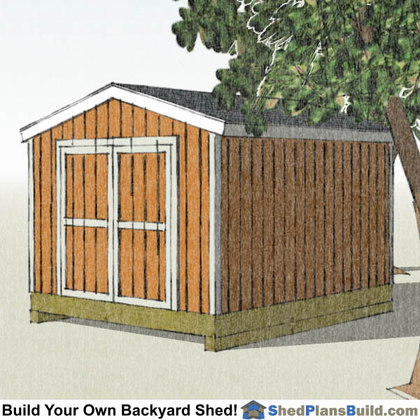 10x12 Backyard Shed Plans Right