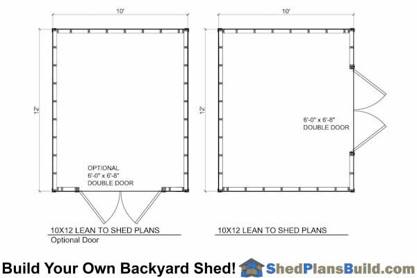 8x12 Lean To Shed Floor Plan