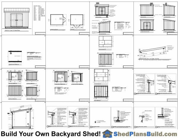 8x12 Lean To Shed Plans Example: