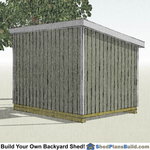10x12 Lean To Shed Plans Left Rear