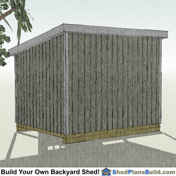 10x12 Lean To Shed Plans Right Rear