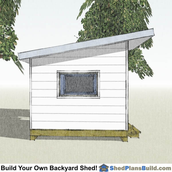 10x12 Lean To Shed Plans End View