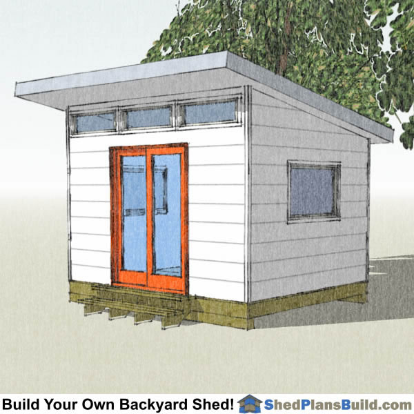 10x12 Lean to Shed Plans Right