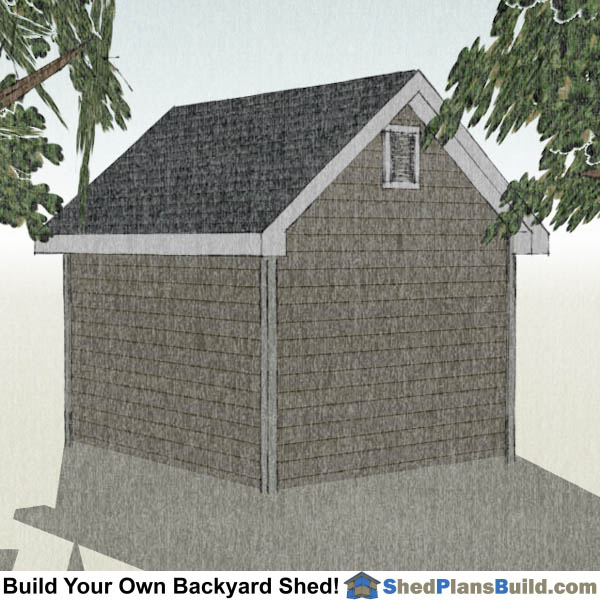 10x12 Garden Shed Plans Right Rear