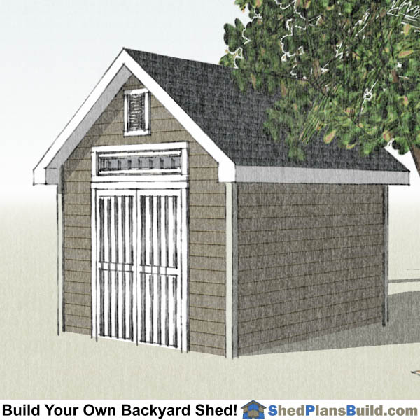 10x12 Garden Shed Plans Right