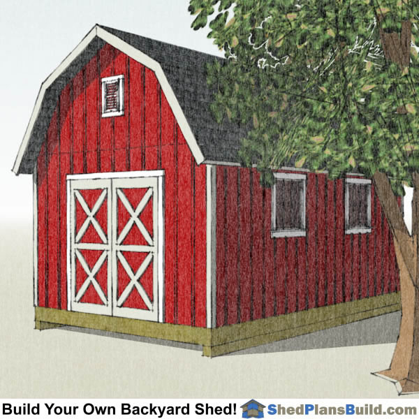 12x20 Gambrel Shed Plans Right