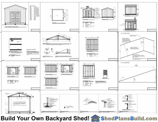 12x12 Backyard Shed Plans Example