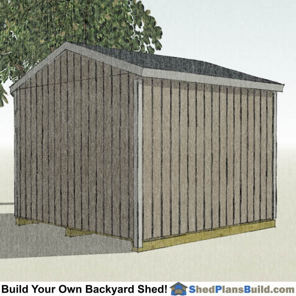 12x12 Backyard Shed Plans Left Rear