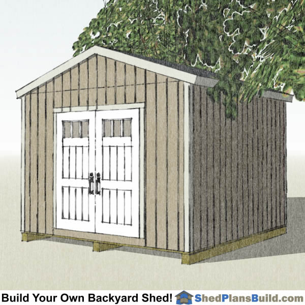 12x12 Backyard Shed Plans Right