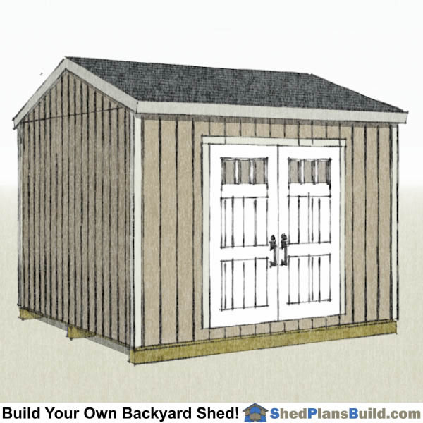 12x12 Backyard Shed Plans Side Door