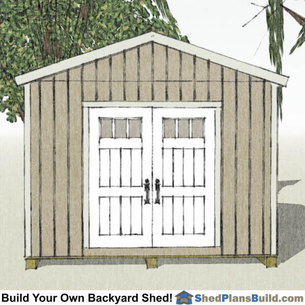 12x12 Backyard Shed Plans End View