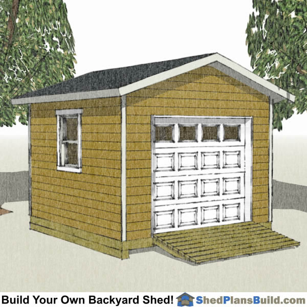 12x12 Storage Shed Plans