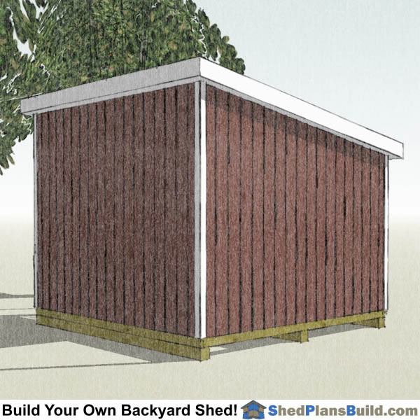 12x12 Lean To Shed Plans Left Rear