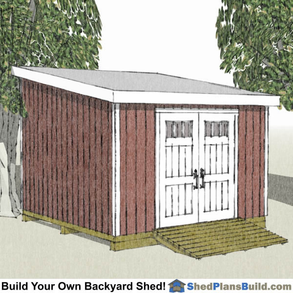 12x12 lean to shed plans