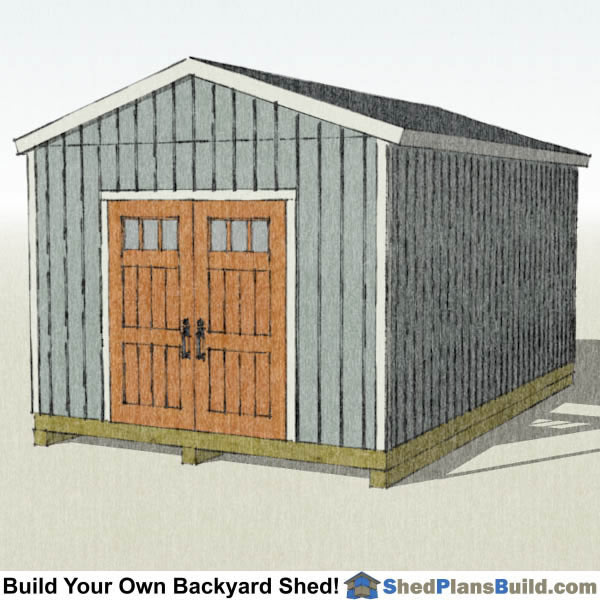 12x16 Backyard Shed Alternate Door View