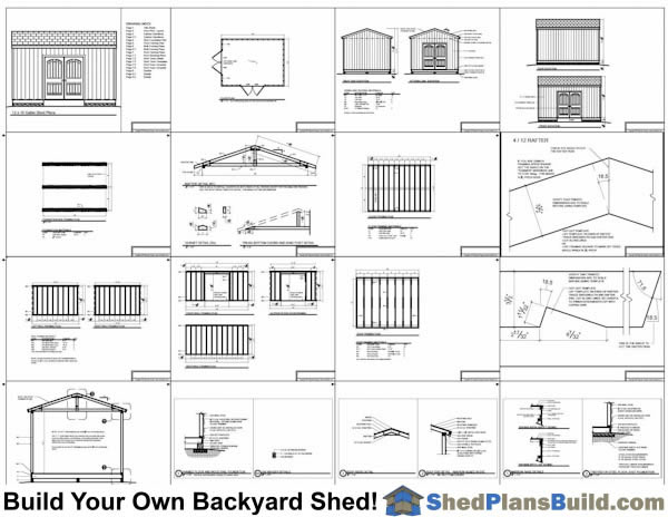 12x16 Backyard Shed Plans Example