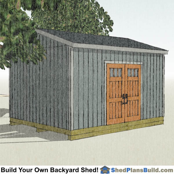 12x16 Backyard Shed Plans Left Rear