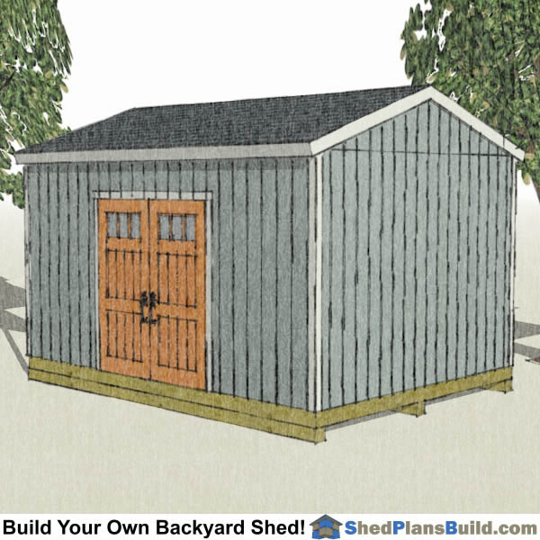 12x16 backyard shed plans