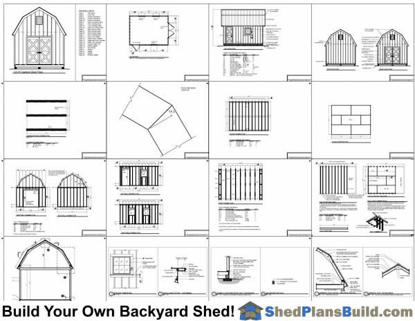 12x20 Garden Shed Plans Example: