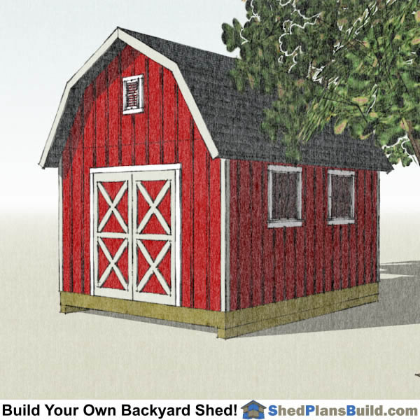 12x16 Gambrel Shed Plans Right