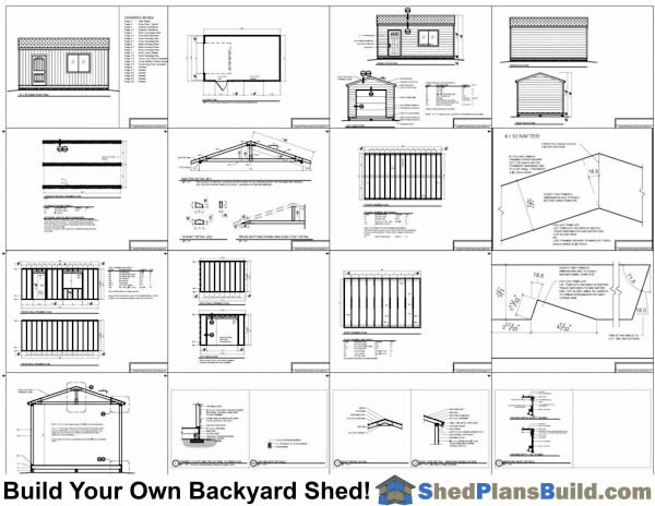 12x20 Shed With Garage Door Plans Example