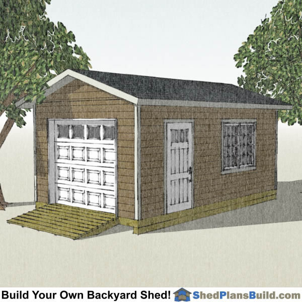 12x20 storage shed with garage door shed plans
