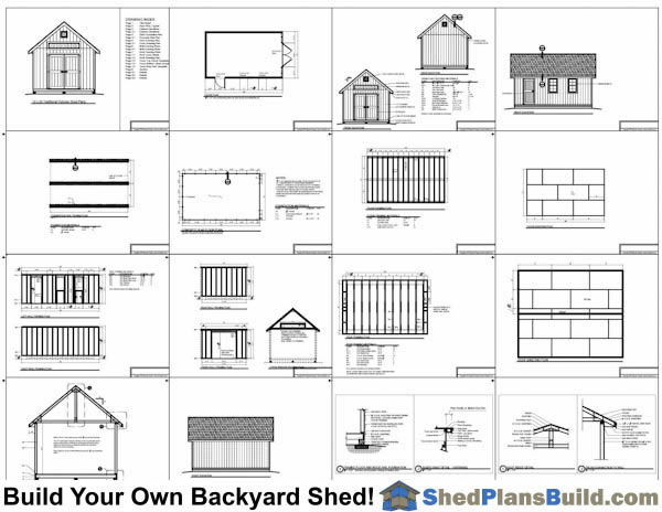 12x20 Traditional Victorian Garden Shed Plans Example