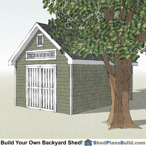 12x20 Garden Shed Plans Right