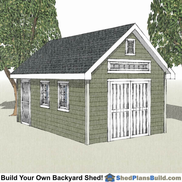 12x20 Shed Plans 12x20 Storage Sheds