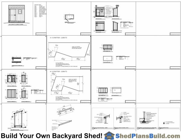 4x8 Lean To Shed Plans with window Example