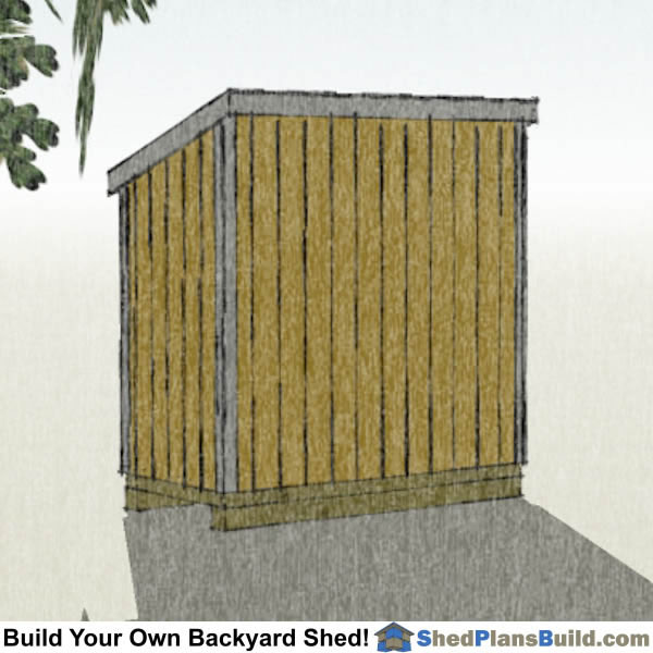 4x8 Lean To Shed Plans with window Right Rear