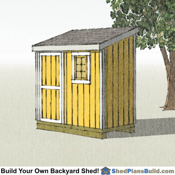 4x8 Lean To Shed Plans with window Right