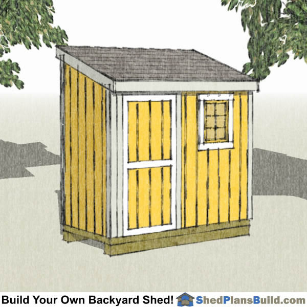 4x8 lean to shed plans with window