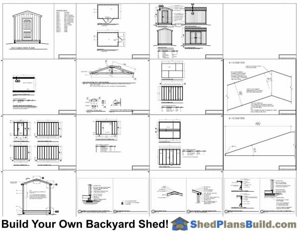 8x8 Backyard Tall Shed Plans Example: