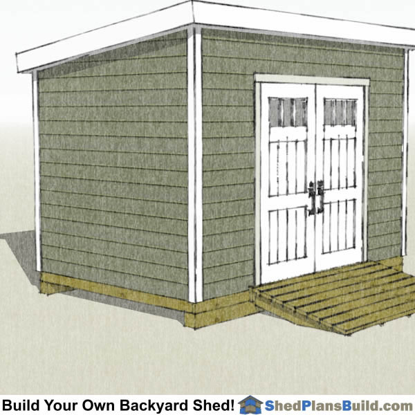 8x12 Lean to Shed Plans Right