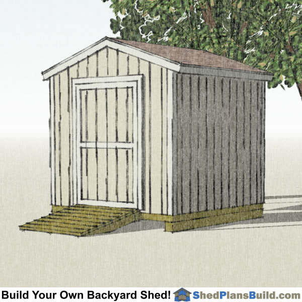 8x8 Backyard Shed Plans Right
