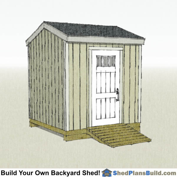 8x8 Backyard Tall Shed Plans Right