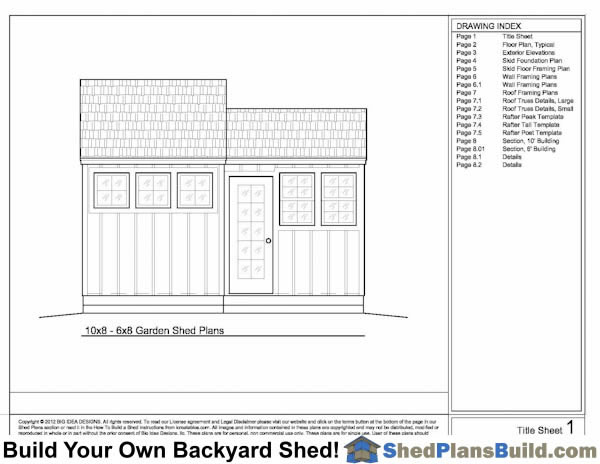 Shed Plans Title Sheet