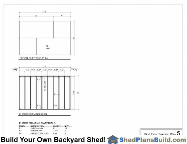 Shed Floor Framing Plans