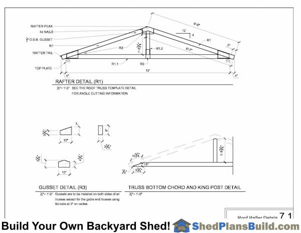 Roof Rafter Plans For Shed