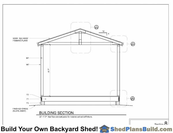 Building Section For Storage Shed Plans